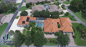 1705 Spruce Creek Way, Hangar Home in Spruce Creek
