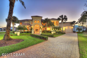 1809 Avanti Court, Mediterranean Hangar Home in Spruce Creek