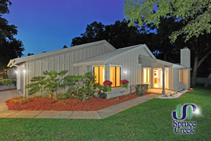 1890 Silver Fern Rd., Fully Renovated Contemporary Golf Villa in Spruce Creek Fly-In