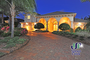 1937 Southcreek Blvd. - Impressive Golf Course Mediterranean Estate in Spruce Creek Fly-In