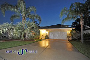 2010 Beaver Creek | Luxury Courtyard Style Golf Course Home in Spruce Creek Fly-In