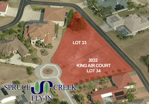 2032 King Air Court, Taxiway Lot in Spruce Creek