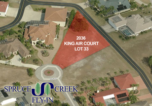 2036 King Air Court, Taxiway Lot in Spruce Creek