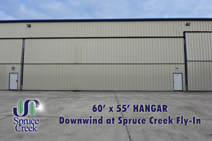 210 Cessna #9, Commercial Hangar in Downwind at Spruce Creek