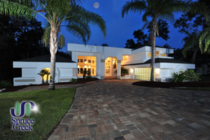2586 Spruce Creek Blvd., Magnificent Contemporary Estate in Spruce Creek Fly-In