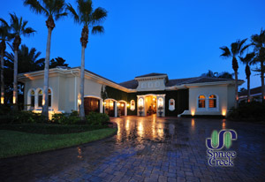 3126 Spruce Creek Blvd., Mediterranean Estate Home on the Golf Course