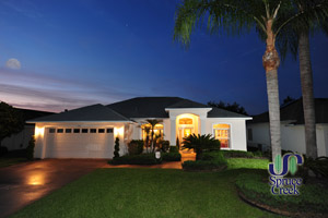 3185 Steamboat Ridge Trail, Waterfront pool home in Turtle Pointe at Spruce Creek